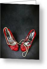 Red Shoes Greeting Card by Joana Kruse