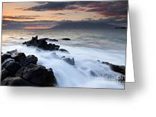 Red Sky Over Lanai Greeting Card