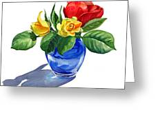 Red Yellow And Blue Greeting Card
