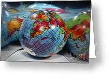 Reflected Globe Greeting Card