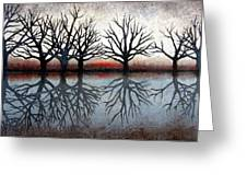 Reflecting Trees Greeting Card