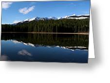 Reflection Bay - Jasper, Alberta - Panorama Greeting Card