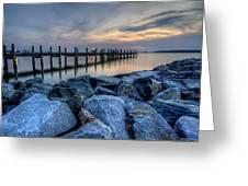 Rehoboth Bay Sunset Greeting Card