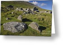 Remains Of Slievemore Village Greeting Card