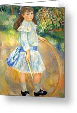 Renoir's Girl With A Hoop Greeting Card