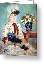 Renoir's Mlle Charlotte Berthier Greeting Card