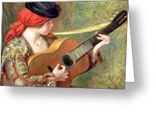 Renoir's Young Spanish Woman With A Guitar Greeting Card