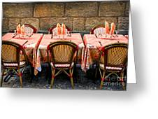 Restaurant Patio In France Greeting Card
