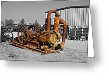 Retired Petroleum Pump Greeting Card