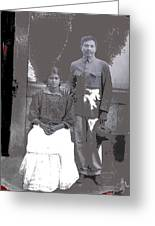 Revolutionary Couple In Studio Unknown Location 1915-1920-2014 Greeting Card