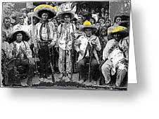 Revolutionary Soldiers Unknown  Mexico Location 1914-2014 Greeting Card