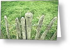 Rickety Fence Greeting Card