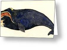 Right Whale Greeting Card