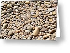 River Rocks Pebbles Greeting Card