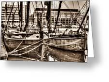 River Thames Sailing Barges Greeting Card