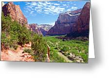 River Through Zion Greeting Card