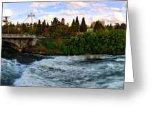 Riverflow Greeting Card by Dan Quam