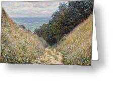 Road At La Cavee Greeting Card