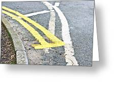 Road Markings Greeting Card