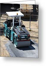 Road Roller Greeting Card