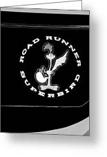 Road Runner Superbird Emblem Greeting Card