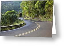 Road To Hana Greeting Card