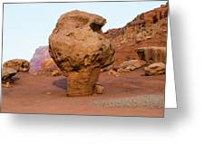 Rock Formations In A Desert, Vermilion Greeting Card