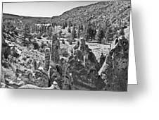 Rock Garden At Bandelier Bw Greeting Card