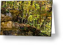 Rock Shelf And Forest Greeting Card