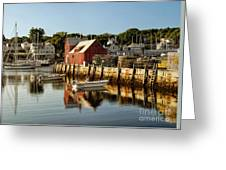 Rockport Harbor Greeting Card