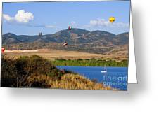 Rocky Mountain Balloon Festival Greeting Card