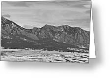Rocky Mountains Flatirons And Longs Peak Panorama Boulder Greeting Card