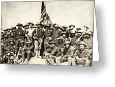 Roosevelt & Rough Riders Greeting Card