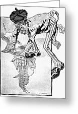 Roosevelt Cartoon, 1905 Greeting Card