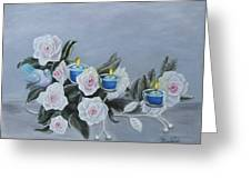 Roses And Candlelight Greeting Card