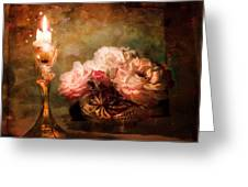 Roses By Candlelight Greeting Card