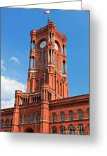 Rotes Rathaus The Town Hall Of Berlin Germany Greeting Card