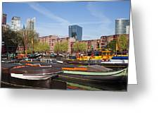 Rotterdam Cityscape In Netherlands Greeting Card