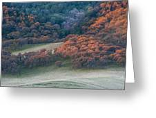 Round Valley Sunrise Greeting Card