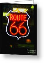 Route 66 Edited Greeting Card
