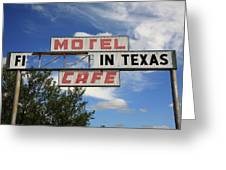 Route 66 - Glenrio Texas Greeting Card
