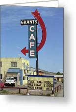 Route 66 - Grants Cafe Greeting Card