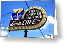 Route 66 - Luna Cafe Greeting Card