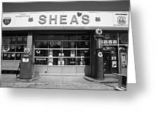Route 66 - Shea's Filling Station Greeting Card
