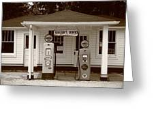 Route 66 - Soulsby Station Pumps Greeting Card