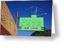 Route 66 - Uranium Cafe Greeting Card