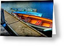 Row Boats Greeting Card
