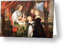 Rubens' Deborah Kip -- Wife Of Sir Balthasar Gerbier -- And Her Children Greeting Card