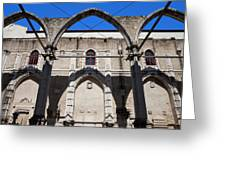 Ruins Of Carmo Convent In Lisbon Greeting Card