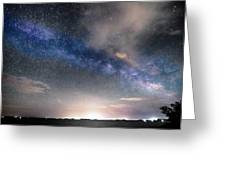 Rural Evening Sky Bwsc Greeting Card